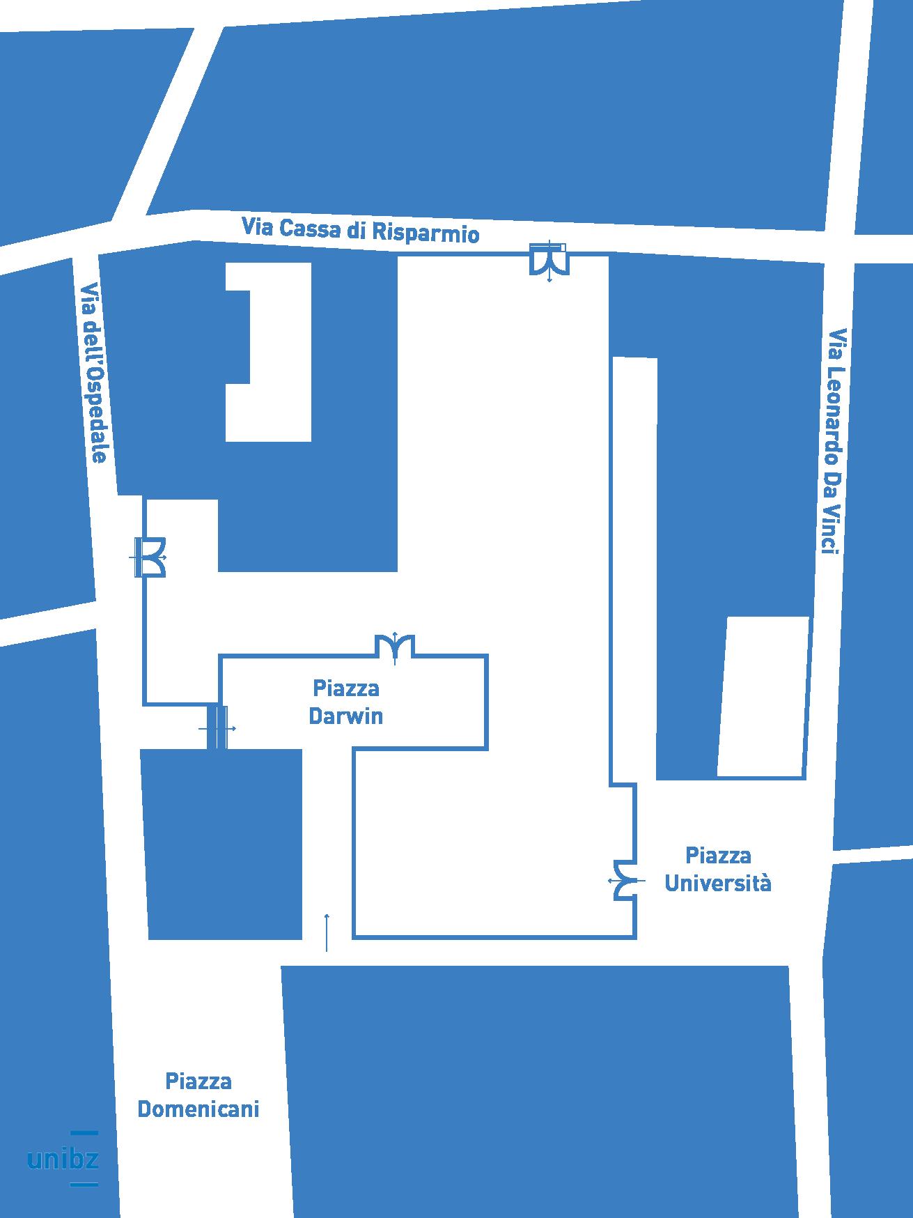 Cartografia quartiere Unibz